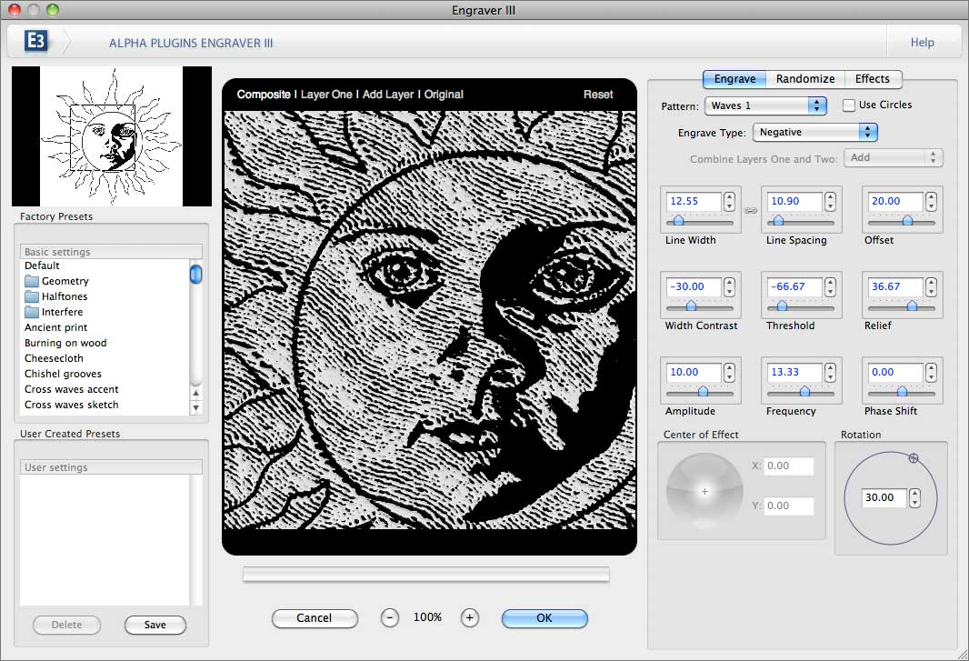 AlphaPlugins EngraverIII screenshot