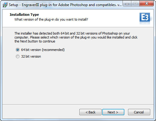 Install Engraver III plug-in